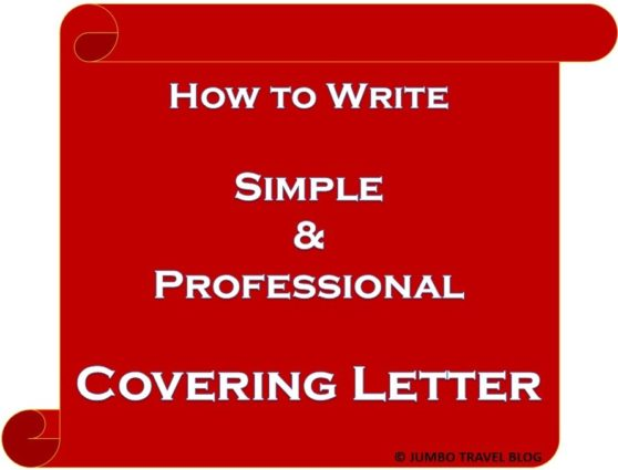 Cover Letter Example Simple Sample Tips For Writing